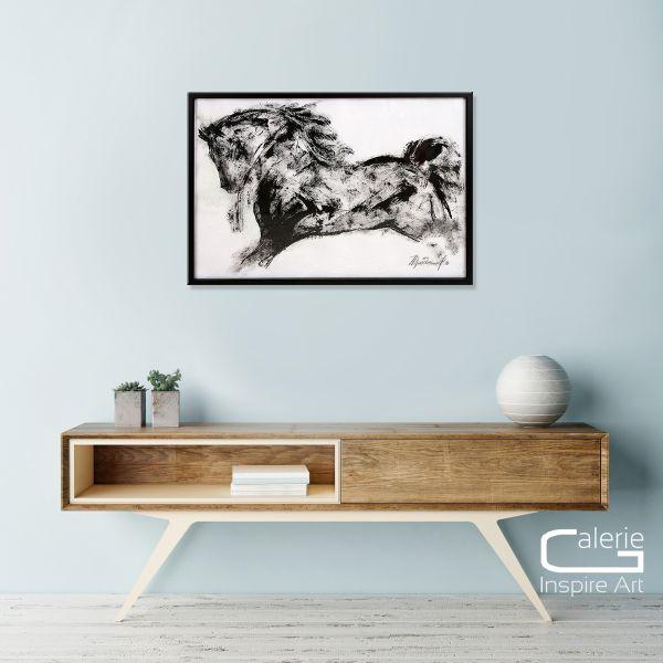 "Art Kunst Malerei, Elena Drobychevskaja: ""Pferd II"""
