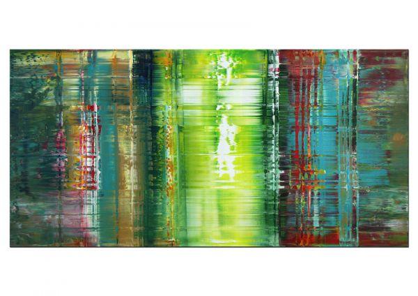 Gemälde Kunst in grün abstrakt