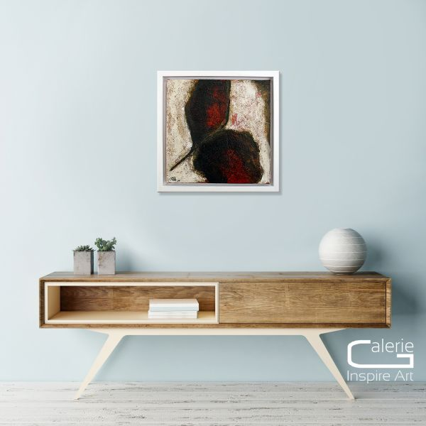 """Abstraktes kleinformatiges Gemälde, Manuela Pilz: """"O.T. IV"""""""