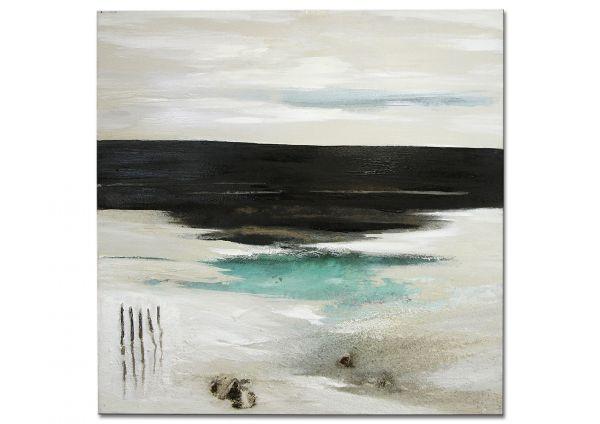 "Modernes Gemälde Originalkunst ""Strandspaziergang am Morgen"""