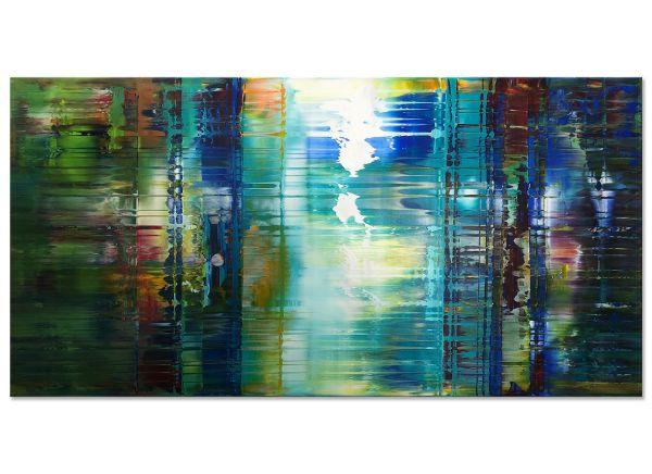 Abstraktes Kunstbild Acrylgemälde