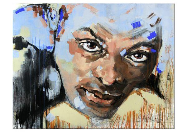 Gemälde figurativ Portrait