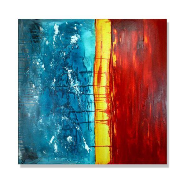 """Stranderlebnisse"" - modernes Wandbild - abstrakte Kunst"