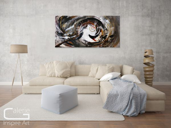 """Caramel"" Gemälde in Acryl - moderne Kunst"