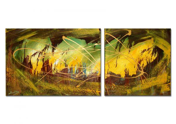 """Malerei abstrakt kaufen art Gemälde, Etienne Donnay: """"Cottage"""""""