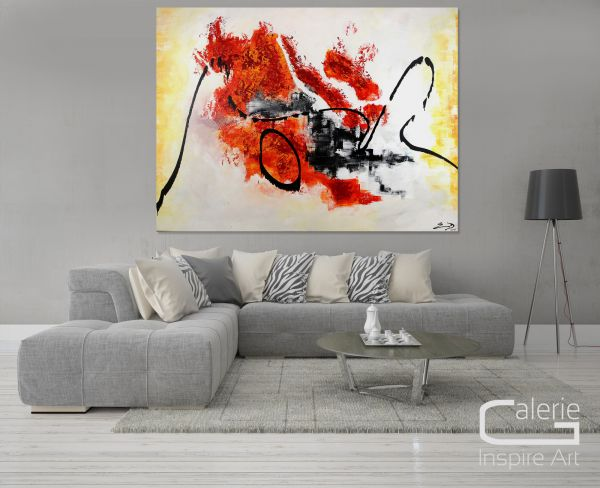 """Großes Kunst Gemälde abstrakt, Etienne Donnay: """"Connected"""""""
