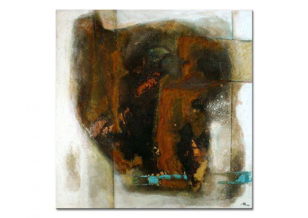 """Abstrakte Gemälde, M. Pilz: """"Bedenke, du lebst!"""""""