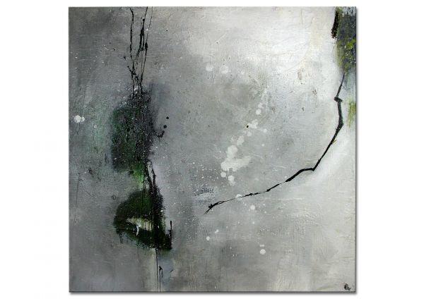 """Abstraktes Unikatgemälde, Petra Klos: """"Green Dots"""""""