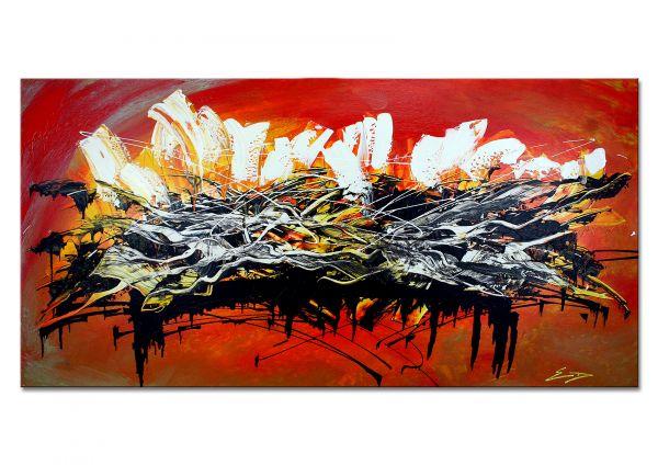 """Manhattan"" - Cityscape NYC auf Leinwand - Malerei abstrakt"