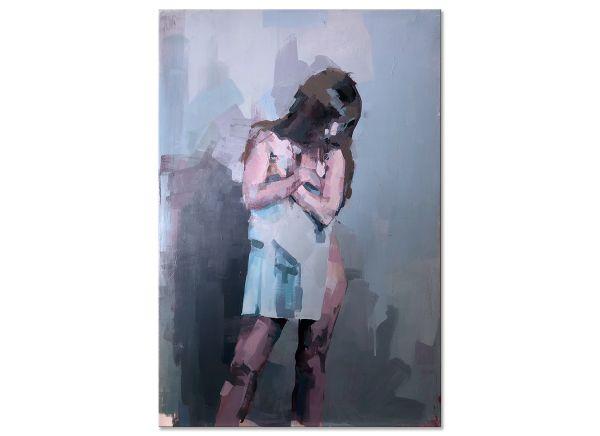 Aktbild Gemälde Frau
