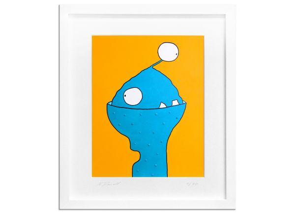 Limitierte Edition Serie signiert Pom Comic Art gelb blau