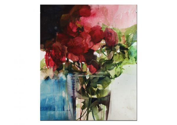 Aquarell Gemälde Blumen informell
