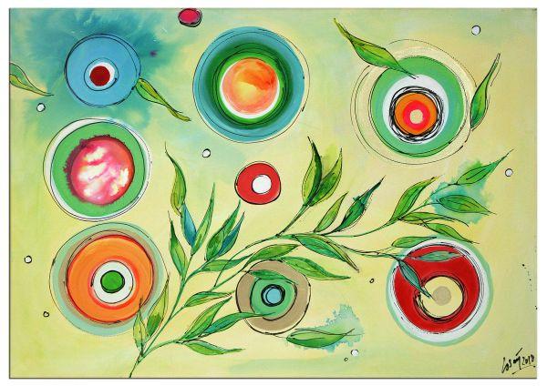 """Blossom Summer"" faszinierendes Acrylgemälde - phantasievolle Malerei"