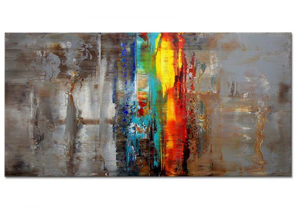 "Moderne abstrakte Kunst Galerie Leinwandbild, ""Bei Weitem"""