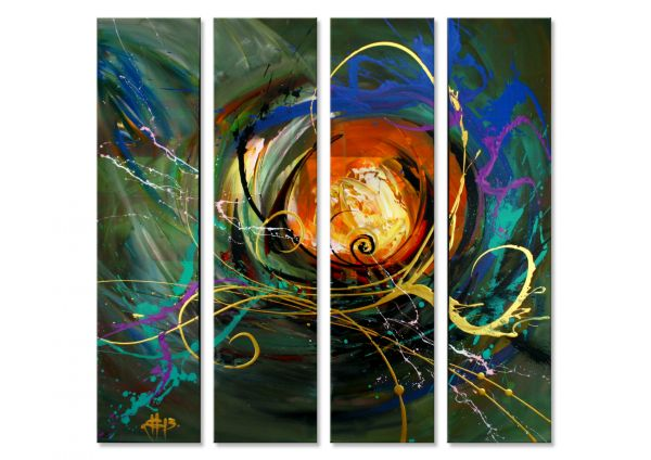"""""""Cloudless"""" - zeitgenössisches Kunstwerk - abstrakte Malerei"""