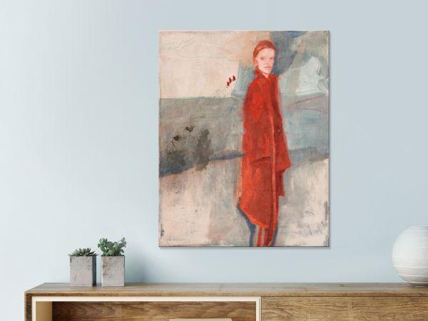 Ölgemälde Galerie Frau im roten Mantel