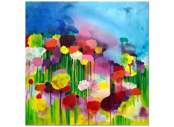 FLOWERS Blumen Malerei abstrakt bunt