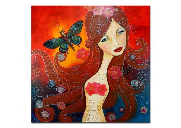 """Butterfly"" - modernes Kunstwerk - Gemälde in Acryl"