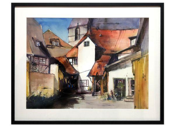 quedlinburg aquarell gemälde bild malerei