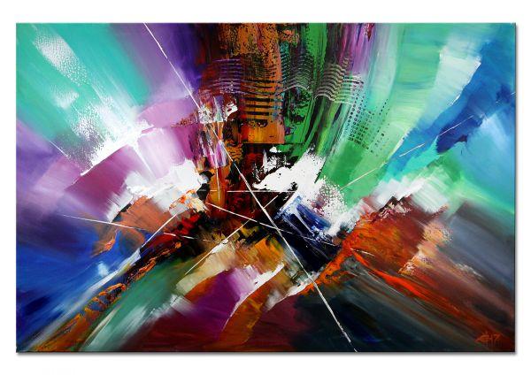 "Original auf Leinwand, Acrylbilder abstrakt 150x100 cm ""Looking Back"""