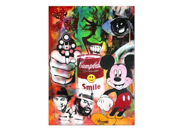 """Pop Art, Moderne Popart Kunst, Peter Wolframm: """"Smile"""""""