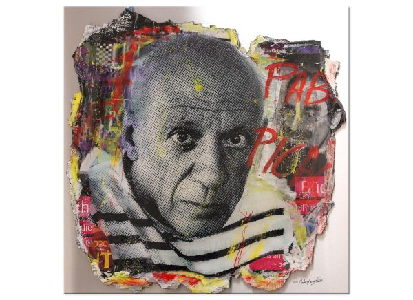 Popart 3D mixed Media Martin Hermeling Pablo Picasso