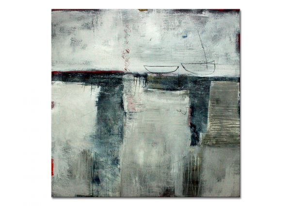 """""""irgendwo überwintern"""" - abstraktes Wandbild - zeitgenössische Kunst"""