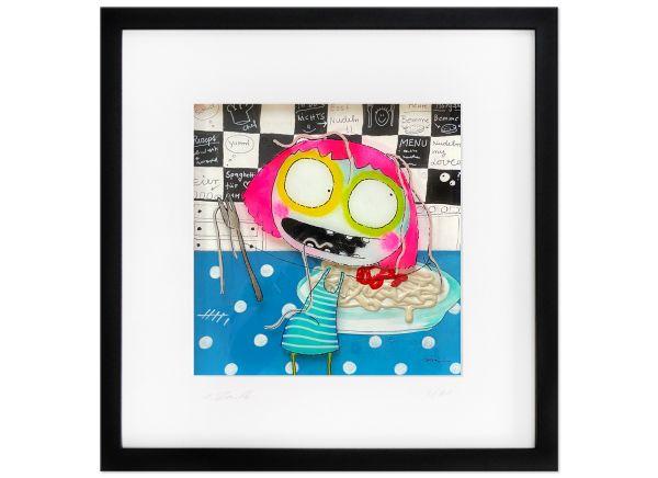 Pasta - Basta Limitierte Kunst Edition Serie signiert Rendle Fineartprint