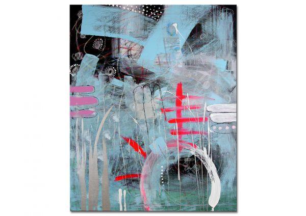 """Abstrakte Bilder kaufen, moderne Galeriekunst, U.Rendle """"Zauberhimmel"""""""