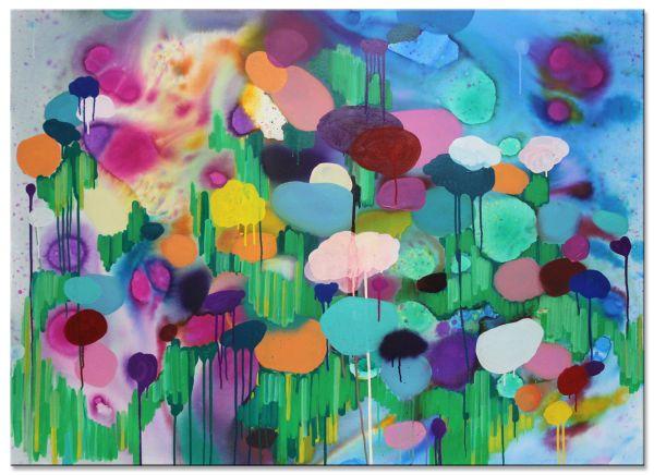 FLOWERS V painting art modern