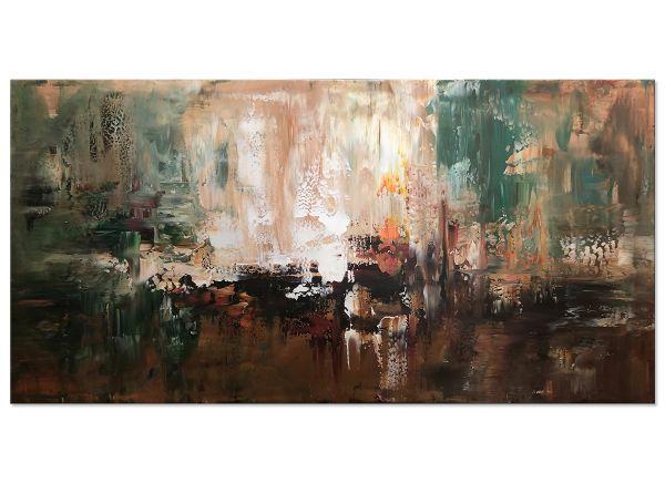 """""""Jenseits von D."""" expressionistisches Leinwandbild"""