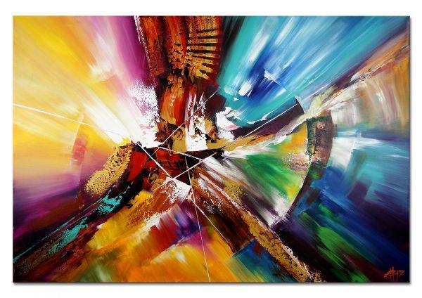 """Riesiges Original Wandbild, Dieu: """"Inside my Head"""" 150x100cm"""
