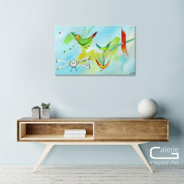 """Birds of Paradise VIII"" echtes Losaij Acrylgemälde"