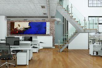 Moderne Kunst Im Großraumbüro