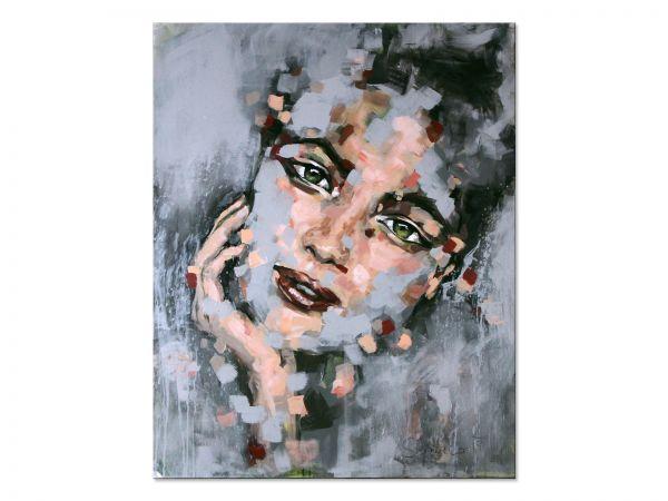 Kunst Gesicht gemalt