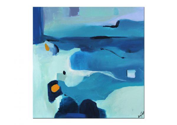 modernes Gemälde in blau