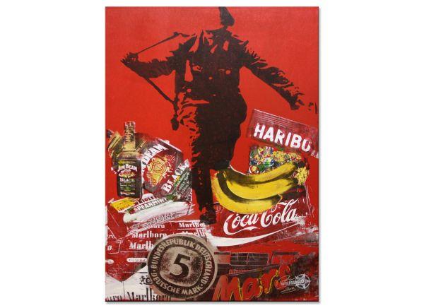 Pop Art Konsum macht frei Sprung in die Freiheit