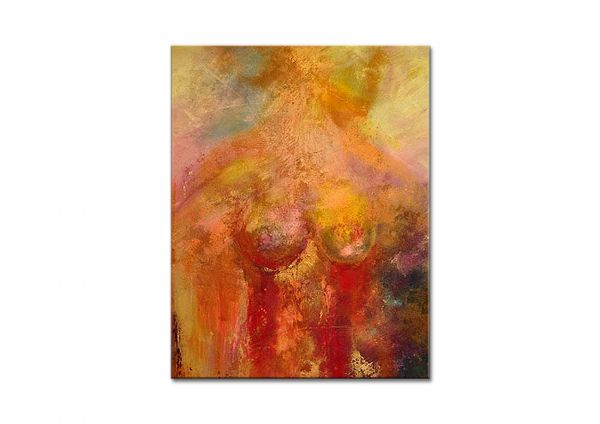"""Aktmalerei, L.Schade: """"Akt 2010"""" abstraktes Aktgemälde"""