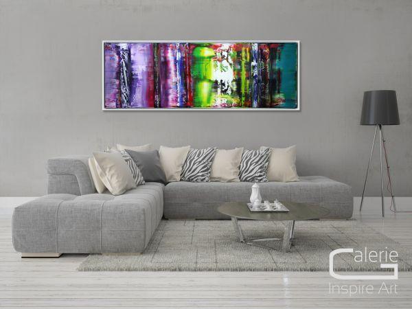 "Panoramaformat im SF-Rahmen: ""Lebensinhalt"" Original Acrylgemälde"
