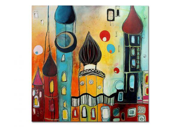 """Acrylbild für Loft kaufen, Losaij: """"Fairytale"""" Gemälde wie Hundertwasser"""