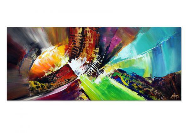 "Farbenfrohes Acrylgemälde von Dieu: ""Boundaries II"" Unikat"
