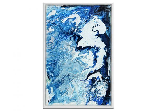 """""""Champagne Clouds"""" Gemälde mit Rahmen - Pouringtechnik"""