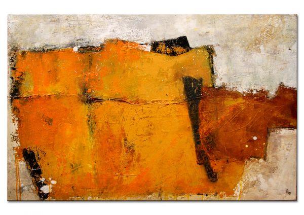 "abstrakte Kunst Galerie Unikat, Petra Klos: ""Field of gold"""