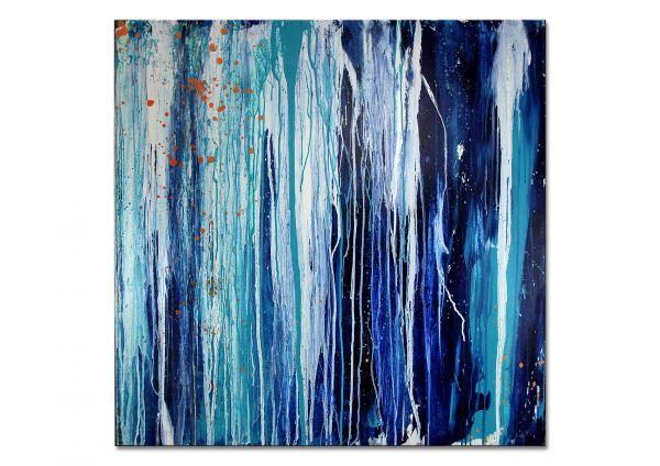 """Abstraktes Gemälde, Conny Wachsmann: """"Sich einfädeln"""""""