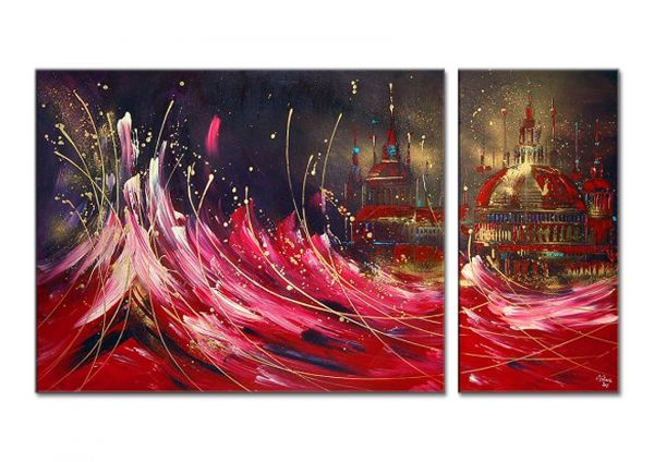 """Untergang"" abstrakte Malerei, modernes Acrylgemälde"