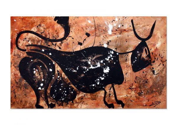 """Abstrakter Stier in Acryl: Donnay """"Terra Bull"""" - abstrakte Kunst"""