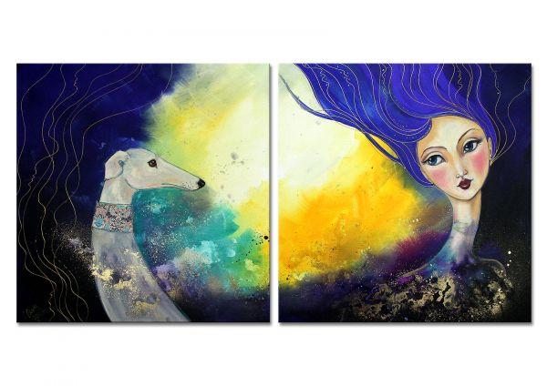 "Moderne abstrakte Kunst, Lydia Schade: ""Moonlight"""