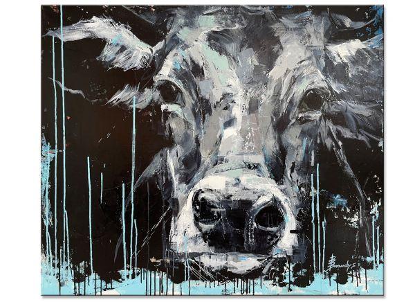 Nora Vida Kuh Gemälde Bild Malerei Kunst Acryl Kühe