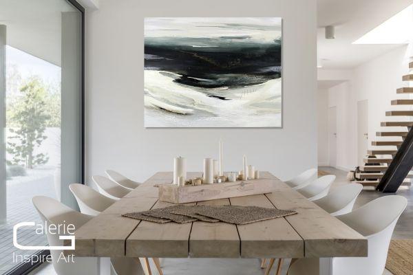 """Impressionismus, Galerie Gemälde von C.Niehoff: """"Islandwinter"""""""