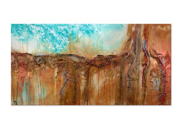 """Mittendrin"" - abstraktes Kunstwerk in Acryl - modernes Gemälde (MVZ)"